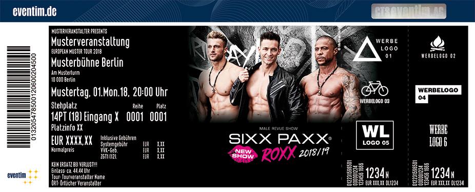 The Sixx Paxx Karten für ihre Events 2018