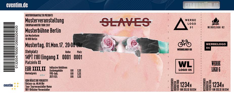 Slaves (Us) Karten für ihre Events 2017
