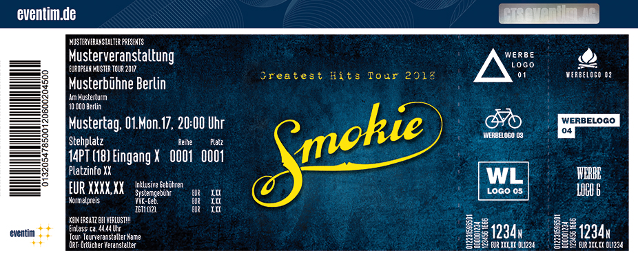 Karten für Smokie: Greatest Hits Tour 2018 in Kempten