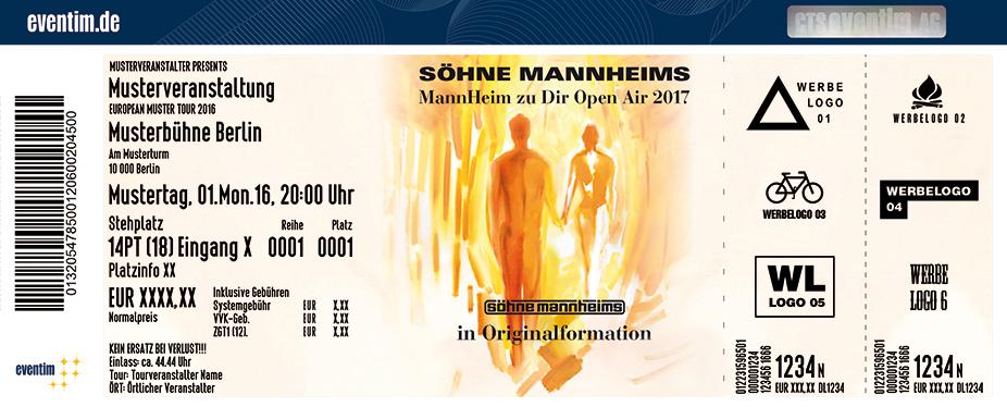 Söhne Mannheims Karten für ihre Events 2017