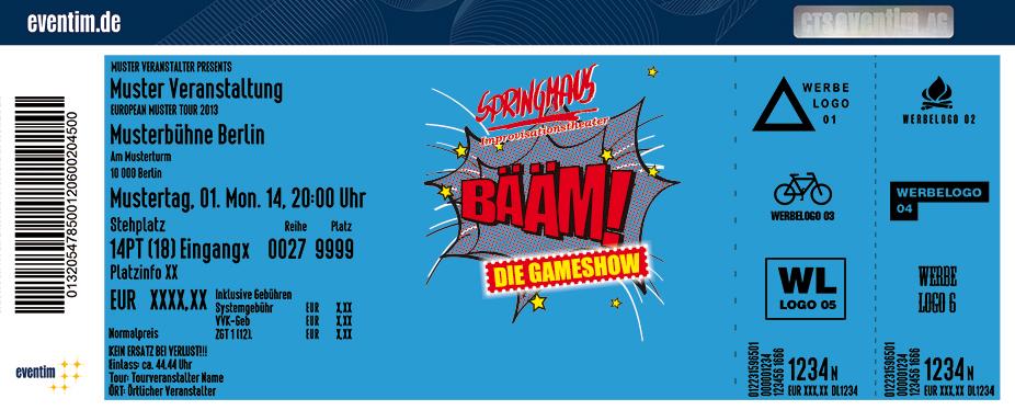 Karten für Springmaus Improvisationstheater: Bääm - Die Gameshow in Bonn