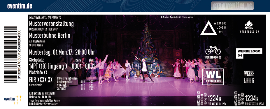 Karten für Nussknacker - St. Petersburg Festival Ballett in Landshut