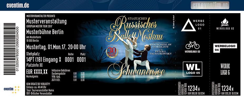 Karten für Staatliches Russisches Ballett Moskau - Schwanensee in Essen