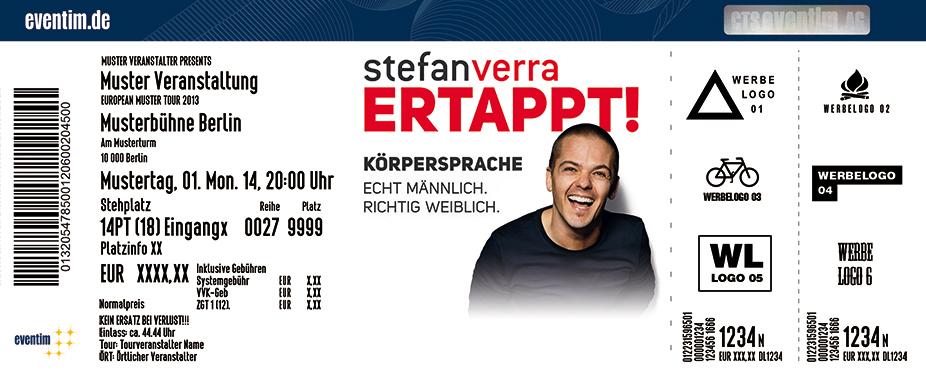 Karten für Stefan Verra: Ertappt! Körpersprache: Echt männlich. Richtig weiblich. in Basel/ Schweiz