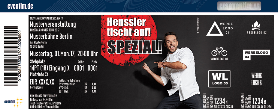 Karten für Steffen Henssler: Henssler tischt auf - Spezial! 2018 in Frankfurt