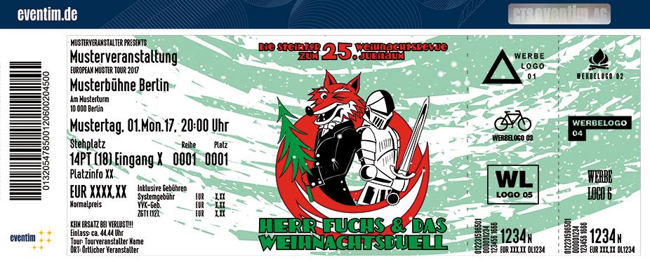 Karten für Die Steintor-Weihnachtsrevue 2017: Herr Fuchs und das Weihnachtsduell in Halle / Saale