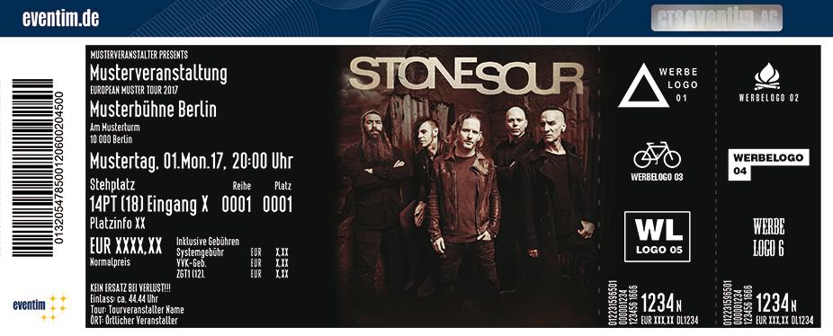 Stone Sour Karten für ihre Events 2017