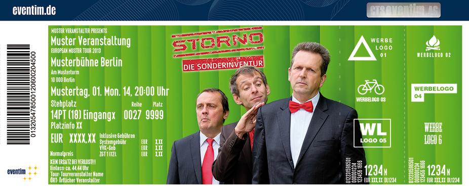 Storno Karten für ihre Events 2018