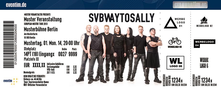 Subway To Sally Karten für ihre Events 2017