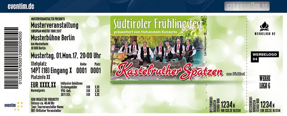 Karten für Kastelruther Spatzen: Südtiroler Frühlingsfest 2018 in Jena