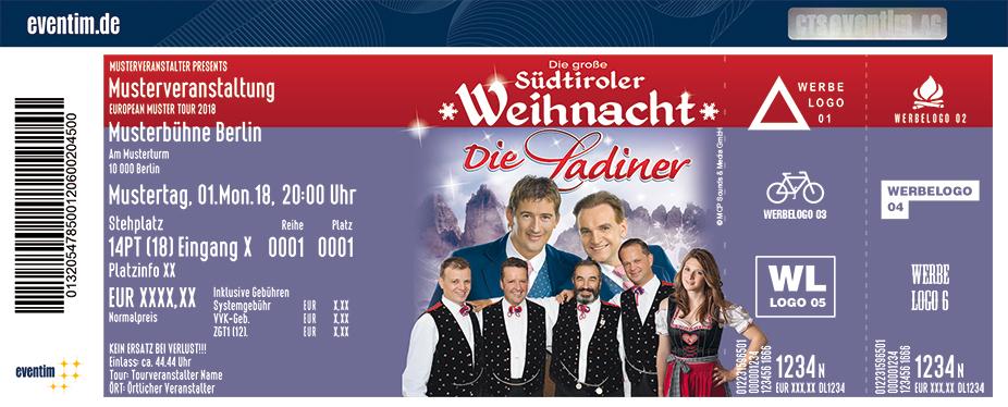 Karten für Die große Südtiroler Weihnacht mit den Ladinern und Nicol Stuffer in Ilmenau