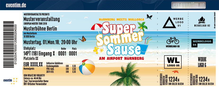 Super Sommer Sause Karten für ihre Events 2018