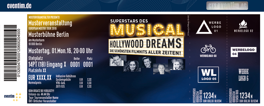 Karten für Superstars des Musicals - Hollywood Dreams in Frankfurt / Main