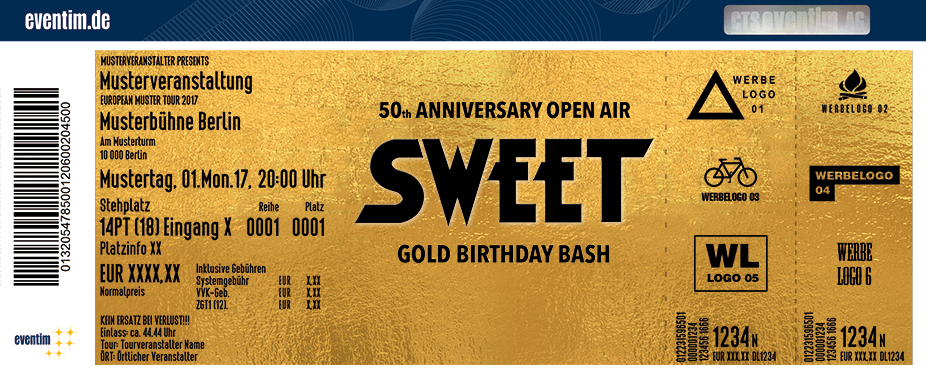 Karten für Sweet - 50th Anniversary Open Air 2018 in Berlin