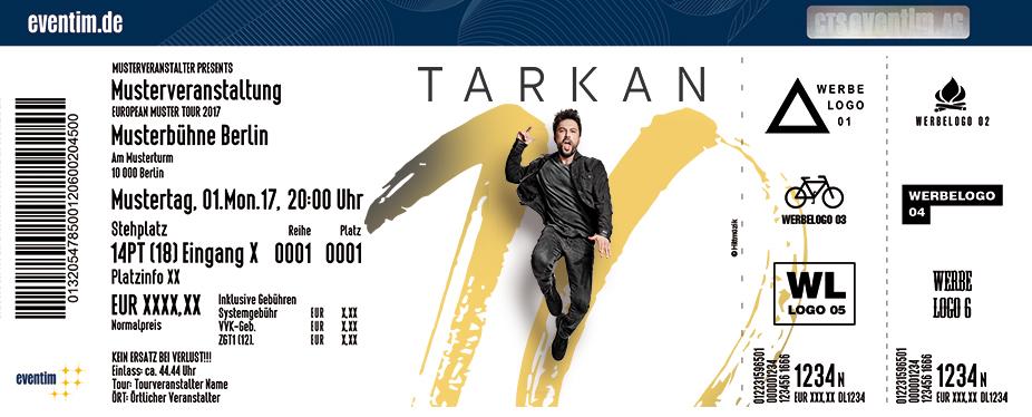 Tarkan Karten für ihre Events 2017