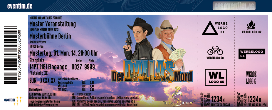 Karten für Tatort-Dinner - Der Dallas Mord in Gummersbach
