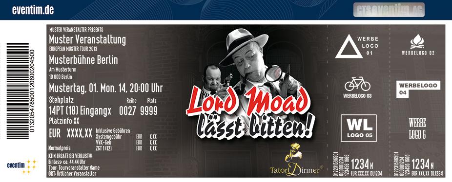 Karten für Tatort Dinner: Lord Moad lässt bitten! in Köln