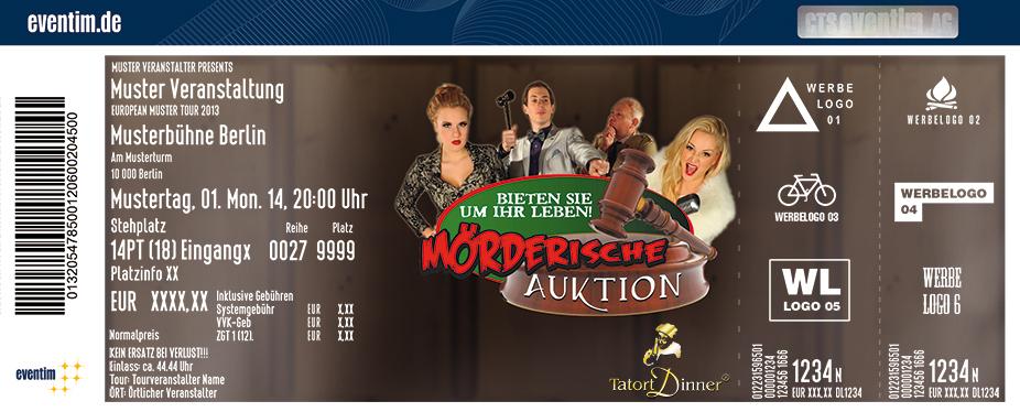 Karten für Tatort-Dinner: Mörderische Auktion in Schwerte