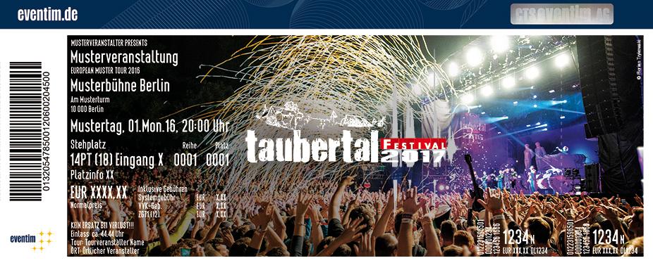 Taubertal Festival Karten für ihre Events 2017