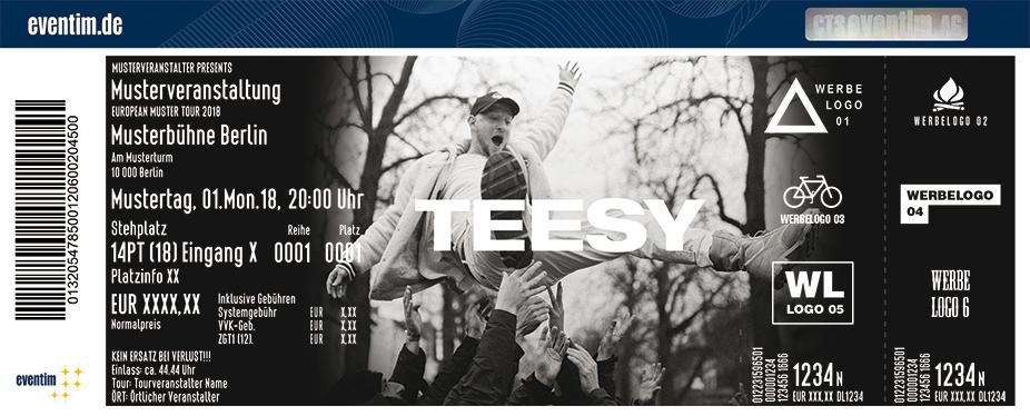 Teesy Karten für ihre Events 2018