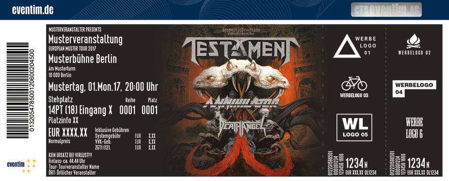 Karten für Testament: Brotherhood Of The Snake Tour 2017 in Wien