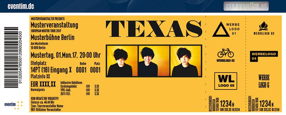 Texas Karten für ihre Events 2017