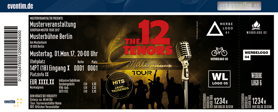 Karten für The 12 Tenors in Paderborn