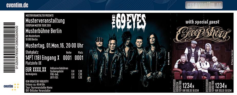 The 69 Eyes Karten für ihre Events 2017