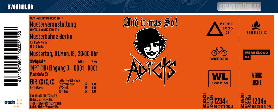 The Adicts Karten für ihre Events 2018