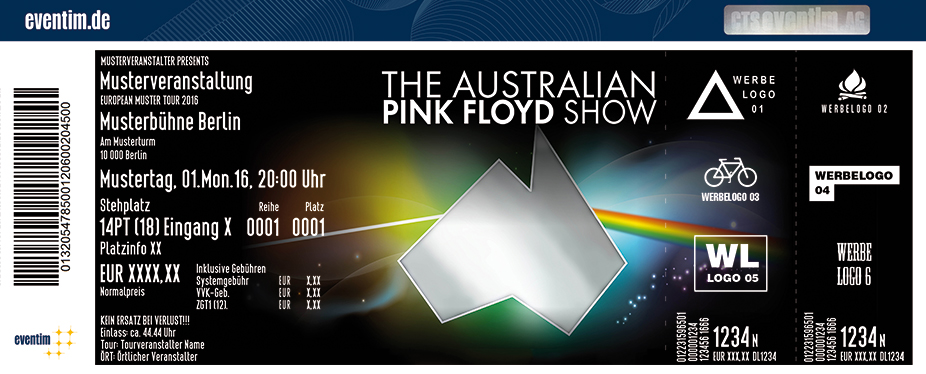 The Australian Pink Floyd Show Karten für ihre Events 2017