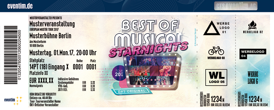 Karten für The Best of Musical Starnights - Die ganze Welt des Musicals in Emmelshausen