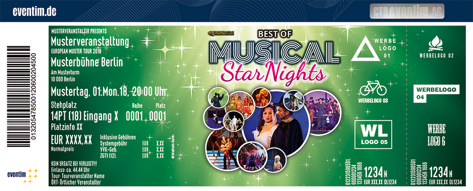 Karten für The Best of Musical Starnights - Die ganze Welt des Musicals in Stadtallendorf