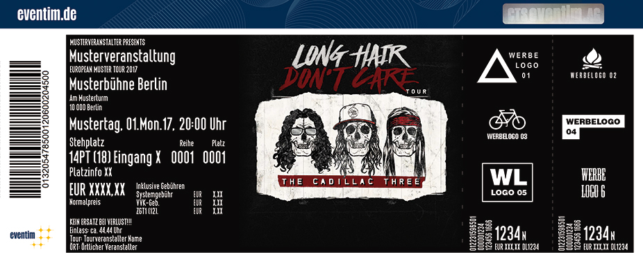 Karten für The Cadillac Three: Long Hair Don't Care Tour 2017 in München