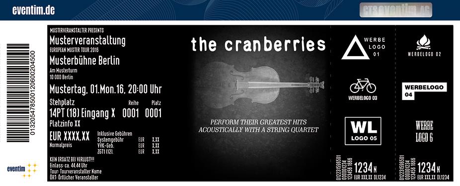 The Cranberries Karten für ihre Events 2017