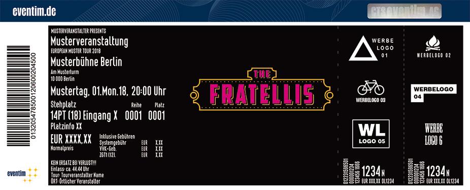 The Fratellis Karten für ihre Events 2018