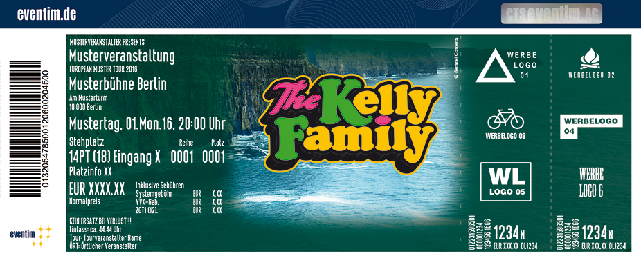 The Kelly Family Karten für ihre Events 2017