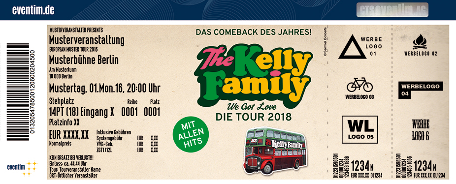 Karten für The Kelly Family: Das Comeback des Jahres - We Got Love - Die Tour 2018 in Hamburg