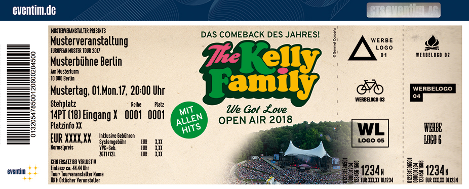 Karten für The Kelly Family: Das Comeback des Jahres - We Got Love - Die Tour 2018 in Berlin