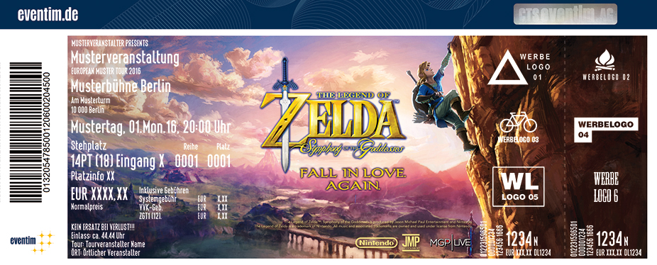 The Legend Of Zelda Karten für ihre Events 2017