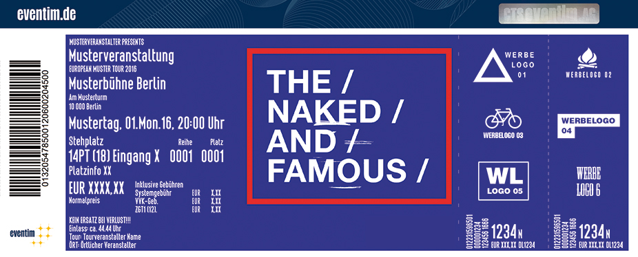 The Naked And Famous Karten für ihre Events 2017