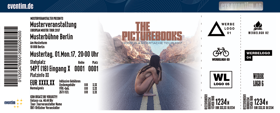 Karten für The Picturebooks: Home is a Heartache Tour 2017 in Kiel