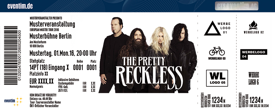 The Pretty Reckless Karten für ihre Events 2017