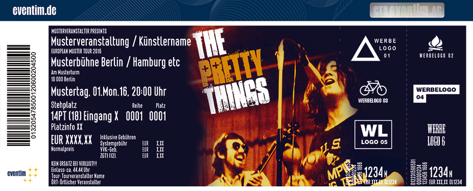 The Pretty Things Karten für ihre Events 2017