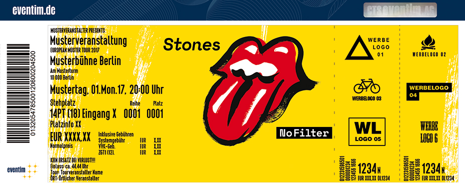 tickets f r the rolling stones in m nchen am olympiastadion m nchen. Black Bedroom Furniture Sets. Home Design Ideas