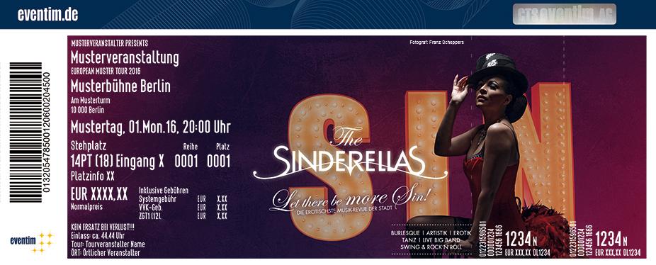 The Sinderellas Karten für ihre Events 2017
