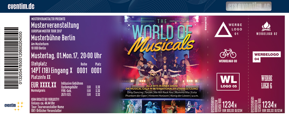 Karten für The World Of Musicals - The Very Best Of Musicals in Weilburg