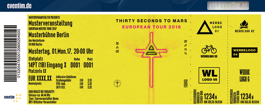 Karten für Thirty Seconds To Mars - European Tour 2018 in Berlin