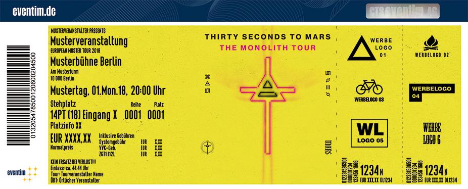Karten für Thirty Seconds To Mars - The Monolith Tour in Berlin