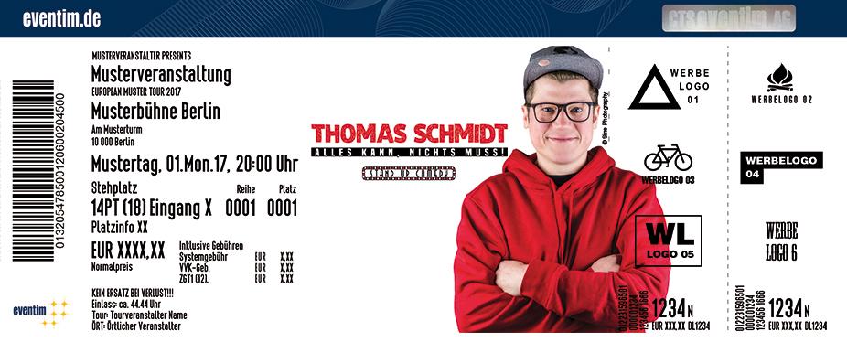 Karten für Thomas Schmidt: Alles kann, nichts muss in Duisburg