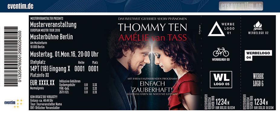 Thommy Ten & Amélie Van Tass Karten für ihre Events 2017